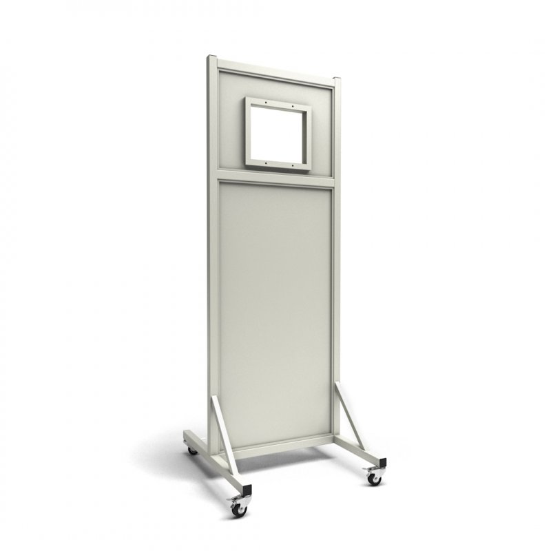 """Mobile Leaded Barrier with 10""""W x 12""""H Window 