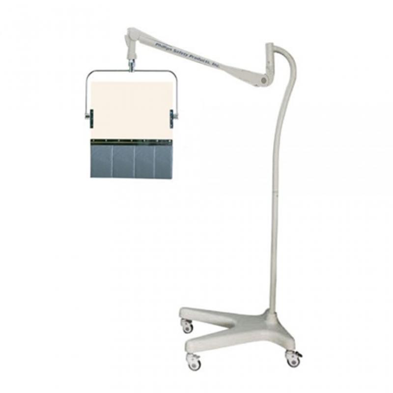 Round Arm Overhead Lead Acrylic Mobile Barrier with Lead Curtain