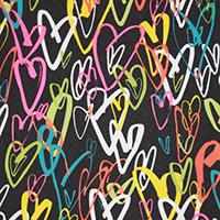 Crazy Hearts Black - #488