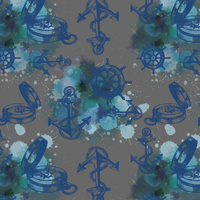 Aye Aye Captain - Deep Gray | Fabric #1221