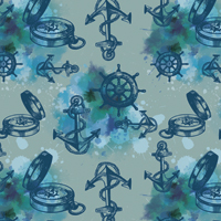 Aye Aye Captain - Light Blue | Fabric #1222