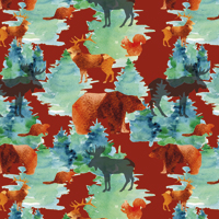 Into the Woods - Deep Red | Fabric #1229