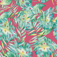Leaf It To Me - Medium Pink | Fabric #1203