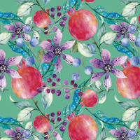 Sangria - Dark Teal | Fabric #1213