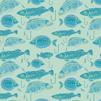 Take the Bait - Powder Blue | Fabric #1231